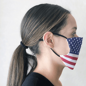 American Flag Cloth Face Mask with PM2.5 Filter