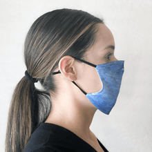 Load image into Gallery viewer, Blue Jeans Print Cloth Face Mask with Disposable PM2.5 Filter
