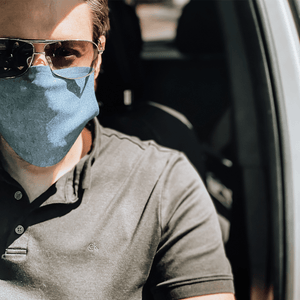 Blue Jeans Print Cloth Face Mask with Disposable PM2.5 Filter