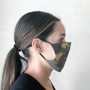 Camo Cloth Machine Washable Face Mask with PM2.5 Filter