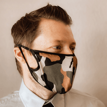 Load image into Gallery viewer, Camo Cloth Face Mask