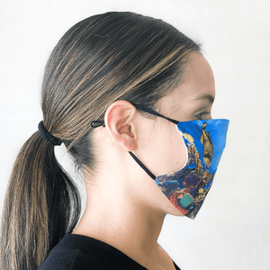 Coral Reef Reusable Cloth Face Mask with PM2.5 Filter