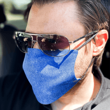 Load image into Gallery viewer, Blue Denim Print Cloth Washable Face Mask with PM2.5 Filter