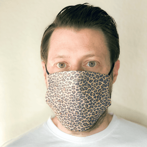 Leopard Print Cloth Face Mask with PM2.5 Filter