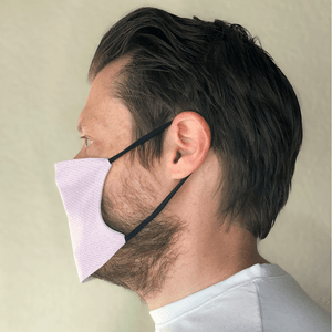 Pink Denim Print Washable Cloth Face Mask with PM2.5 Filter