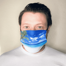 Load image into Gallery viewer, Tropical Island Washable Cloth Face Mask with PM2.5 Filter