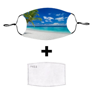 Tropical Island Washable Cloth Face Mask with PM2.5 Filter