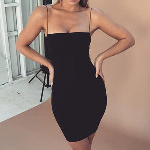 Summer Black Sexy Dress