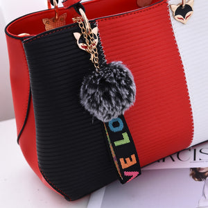 Hairball Split Color Handbag