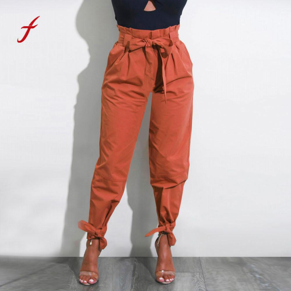 High Waist Joggers with Bows