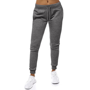 Casual Solid Lace Up Joggers