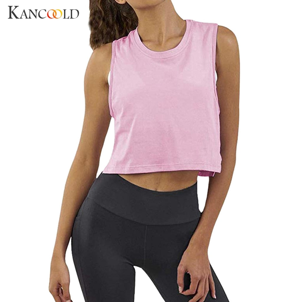 Crop Top Sleeveless Workout Tank