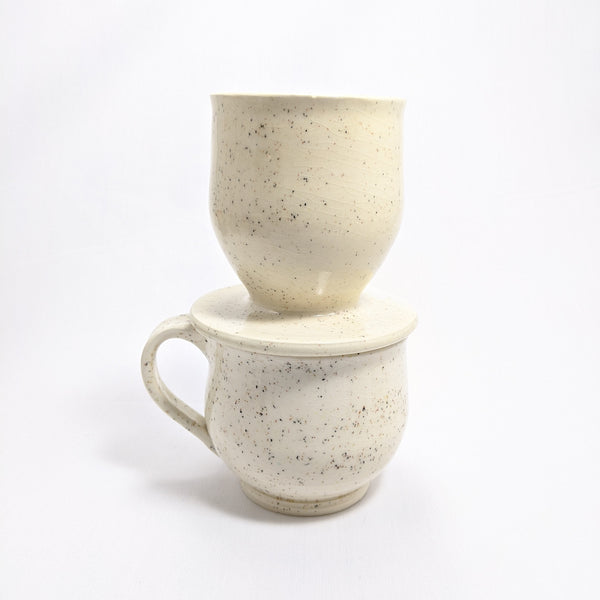 Ceramic Mug + Coffee Maker - Pearl | 10oz