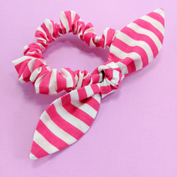 Scrunchie Magenta Stripes