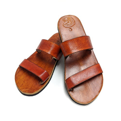 Classic Puerto Rico T-Shirts Leather Sandals - [MADE TO ORDER]