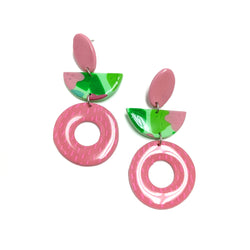 Tropic Mint - Half Moon Donut Dangles
