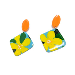 Yellow Daisy - Tile Dangles