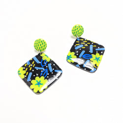 Flower Party - Tile Dangles