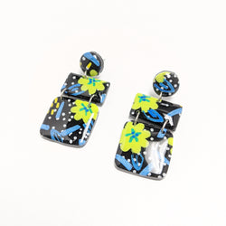 Flower Party - Tiny Tile Dangles