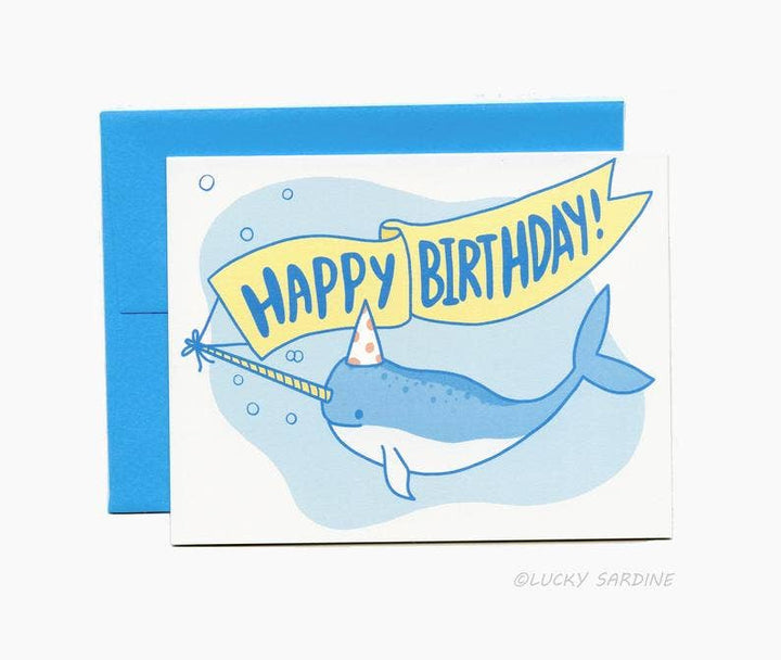 Narwhal Birthday Greeting Card