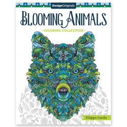 Blooming Animals Coloring Book