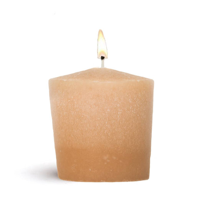 Votive Beeswax Orange Pillar