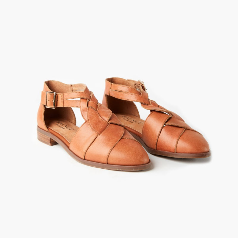 Airie Leather Flat