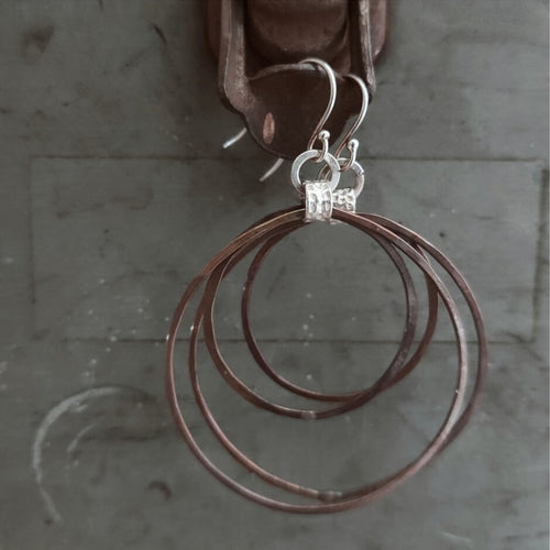 Organic Copper Hoop Earrings