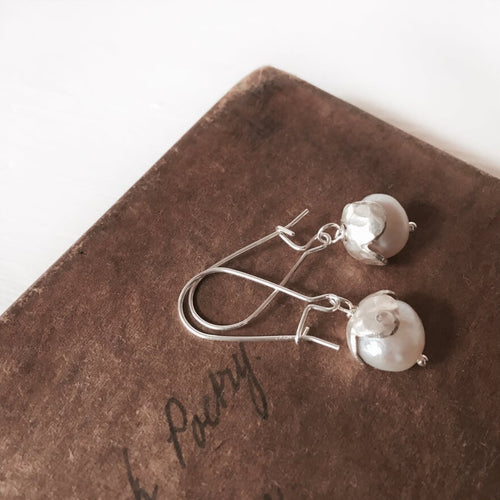Petal & Pearl Dangle Earrings