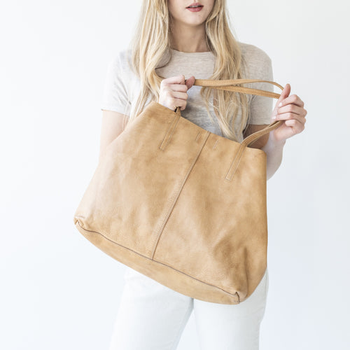 Unlined Leather Tote
