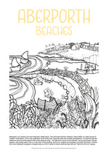 Load image into Gallery viewer, Aberporth Beaches - Helen Elliott Colouring Poster