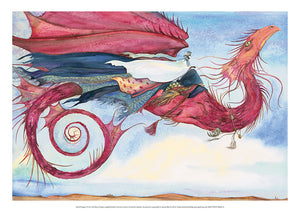 My Dragon Flies to the Secret Music of the Wind - Jackie Morris Poster