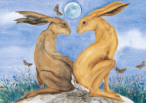 Hare and Fox Postcard Pack