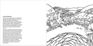 Helen Elliott Beach Life Colouring Book, published by Graffeg, Llangrannog