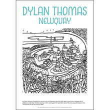Load image into Gallery viewer, Dylan Thomas Newquay - Helen Elliott Colouring Poster