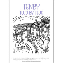 Load image into Gallery viewer, Tenby Two by Two - Helen Elliott Colouring Poster
