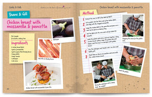Cooks and Kids published by Graffeg Chickem Breast with Mozzarella and Pancetta