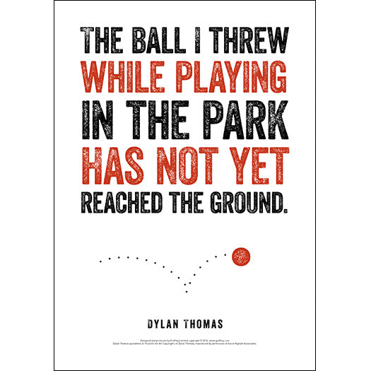 The Ball I Threw While Playing Dylan Thomas Poster