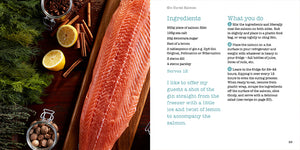 Festive Recipes Angela Gray Angela Gray's Cookery School Huw Jones published by Graffeg Gin Cured Salmon