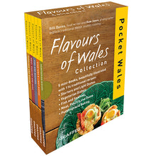 Load image into Gallery viewer, Flavours of Wales PG Pack Pocket Wales Gilli Davies Huw Jones published by Graffeg, starters and light bites, vegetarian dishes, fish and seafood, meat, poultry and game, puddings and baking