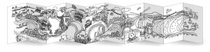 Gower Coast Concertina Colouring Book, Helen Elliott, published by Graffeg