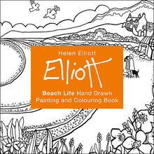 Load image into Gallery viewer, Helen Elliott Beach Life Colouring Book, published by Graffeg