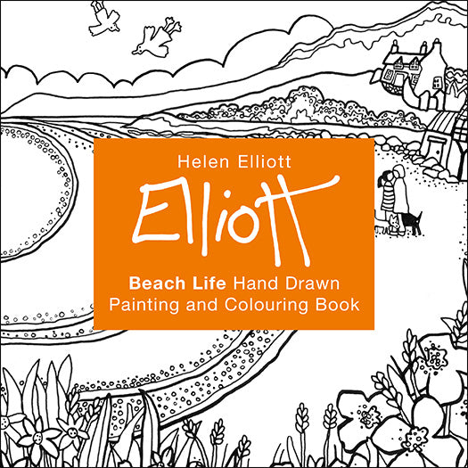 Helen Elliott Beach Life Colouring Book, published by Graffeg