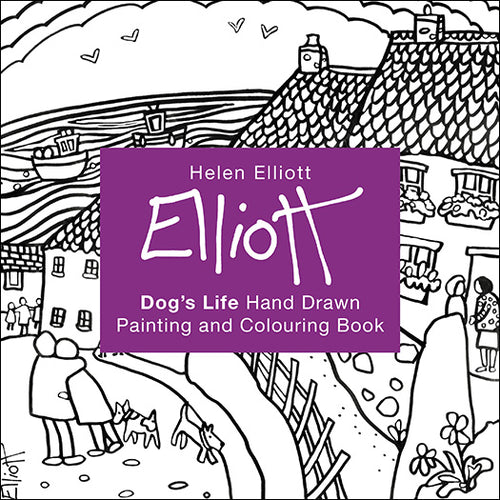 Helen Elliott Dog's Life Colouring Book, published by Graffeg