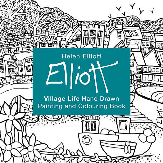 Helen Elliott Village Life Colouring Book, published by Graffeg