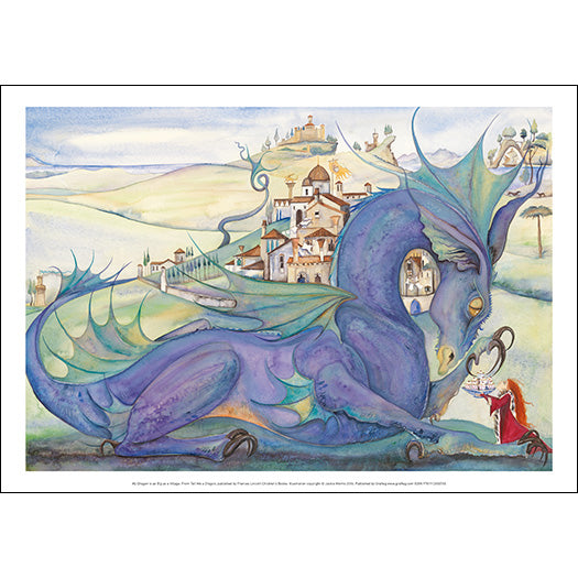 My Dragon is as Big as a Village - Jackie Morris Poster