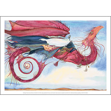 Load image into Gallery viewer, My Dragon Flies to the Secret Music of the Wind - Jackie Morris Poster