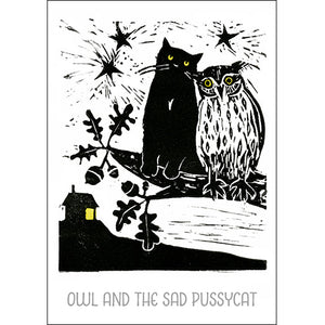 Owl and the Sad Pussycat - Jo Cox Poster
