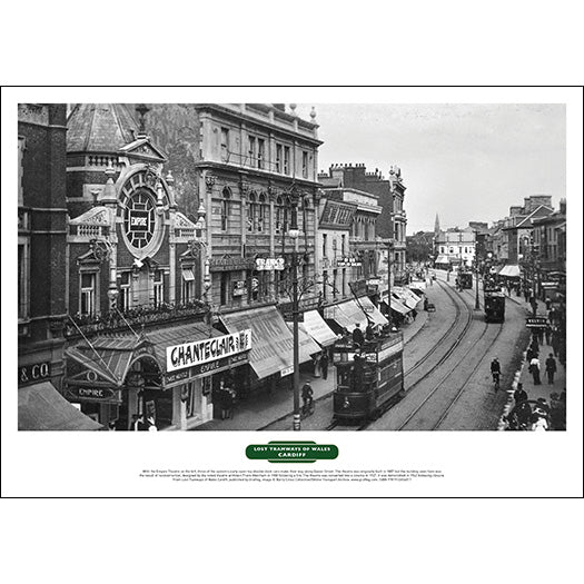 Lost Tramways of Wales Poster - Queen Street, Cardiff