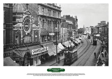Load image into Gallery viewer, Lost Tramways of Wales Poster - Queen Street, Cardiff